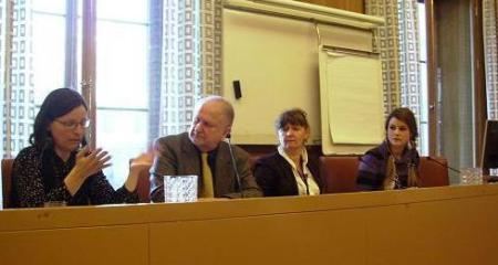 Från vänster: Anna Ekström, Siewert Öholm, Carina Hägg, Tanja Bergkvist
